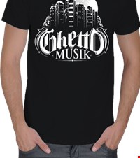 GHETTO MUSIK Erkek Tişört Hiphop is Ghetto Music 140409203855179431342347417-