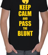 WU KEEP CALM Erkek Tişört Keep Calm And Pass The Blunt 140421012532461281405845-
