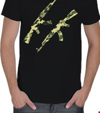 MachineGun Camouflage Erkek Tişört MachineGun Camouflage 1404292054004611172043286-