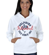 Dolphin Spirit- Hoodie Kadın Kapşonlu Show your Dolphin pride with our first official design in the Dolphin Spirit Shop 