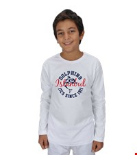 Dolphin Spirit- Crew Neck Long Sleeve. Childrens Çocuk Unisex Uzunkollu Show your Dolphin pride with our first official design in the Dolphin Spirit Shop 
