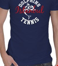 Tennis Team Crew Neck Erkek Spor Kesim Time for team pride 