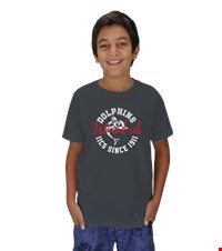 Dolphin Spirit- Crew Neck- Childrens Çocuk Unisex Show your Dolphin pride with our first official design in the Dolphin Spirit Shop   Childrens short sleeve,  crew neck tshirt 1408261519461951752092389234-
