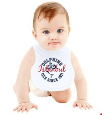 Dolphin Spirit Baby Bib Bebek Mama Önlüğü Even the littlest Dolphins can show their team spirit now  1408261540081951752092382819-