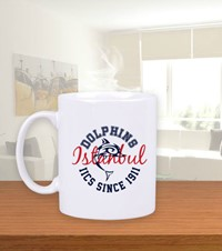 Dolphin Spirit Coffee Mug Beyaz Kupa Bardak Coffee and Tea Mug with our original spirit shop emblem  1408281432321951752092386984-