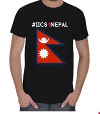 IICS4Nepal- Mens Erkek Tişört Support our fundraising for Nepal Help earthquake victims in their time of need 1505071244531951752092382979-