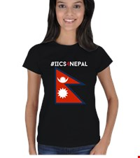 IICS4Nepal- Womens 2 sided Kadın Tişört Support our fundraising for Nepal Help earthquake victims in their time of need 1505071300201951752092388752-