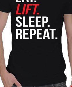 Eat-lift-sleep-repeat Erkek Spor Kesim
