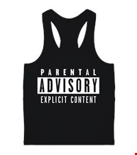 Parental Advisory  Erkek Body Gym Atlet askılı model Parental Advisory 15072601162095701392523913-