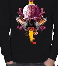 •HA81• Graffiti Brain ERKEK SWEATSHIRT •HA81• Graffiti Brain 16110714534931223421797367-